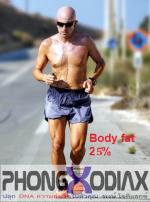 รูปร่างผู้ชายที่มีเปอร์เซนต์ไขมันในร่างกาย (Body Fat %) 25%