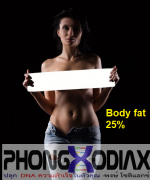 รูปร่างผู้หญิงที่มีเปอร์เซนต์ไขมันในร่างกาย (Body Fat %) 25 %